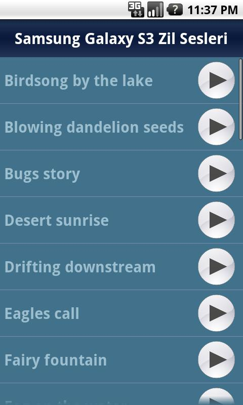 Samsung Galaxy S3 Ringtones - screenshot
