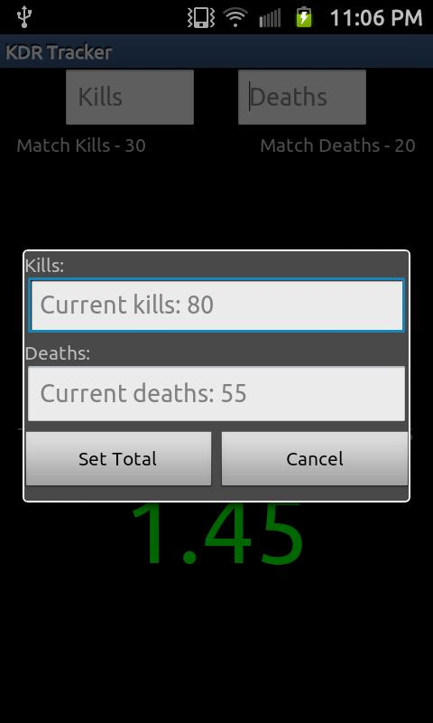 Kill Death Ratio Tracker Free - screenshot