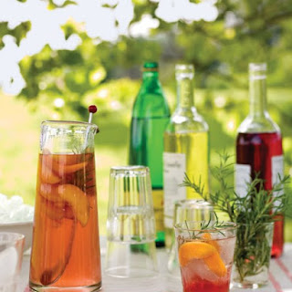 Peach and Rosemary Spritzers.
