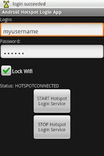 Hotspot Login für Android- screenshot thumbnail