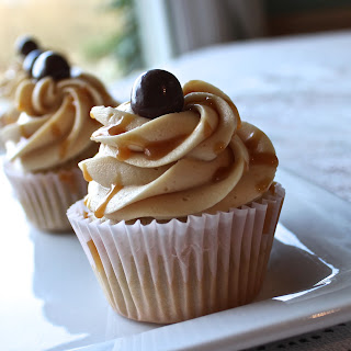 Coffee Cupcakes with Salted Caramel Frosting