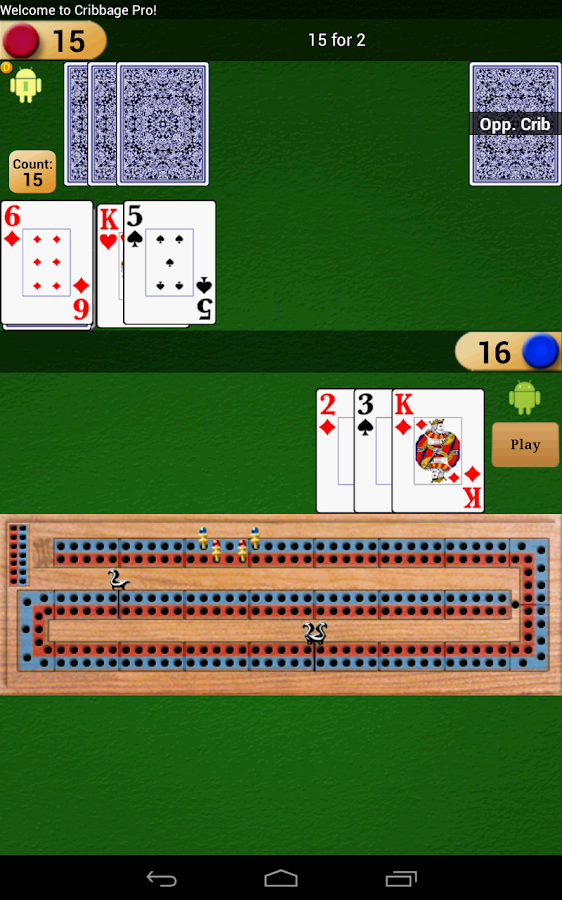 Cribbage Pro - screenshot