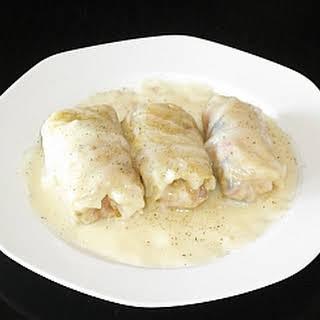 Greek Stuffed Cabbage Leaves (Lahanodolmades).