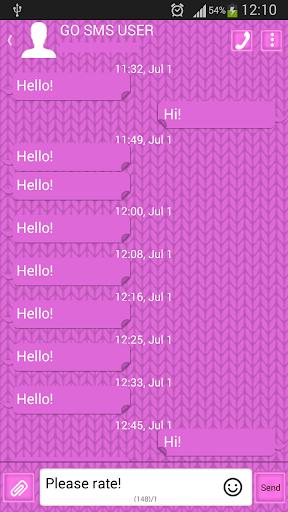 GO SMS Proのピンクのセーター