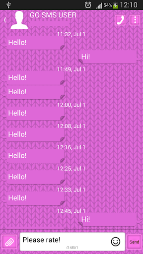 玩娛樂App|GO SMS Pro Pink Sweater免費|APP試玩