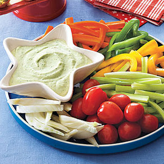 Green Goddess Dip with Crudités.