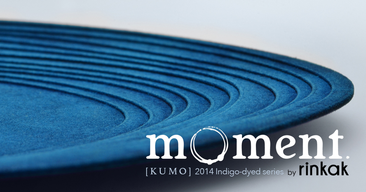 "mOment KUMO, new accessories integrating 3D printing technologies and Japanese traditional crafts ""Aizome - Indigo-dyeing"""