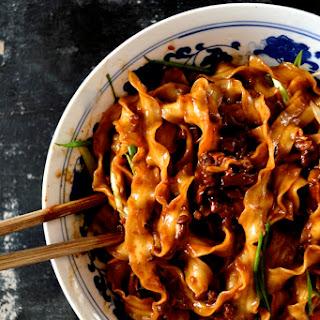 """Beijing """"Fried Sauce"""" Noodles – Zha Jiang Mian."""