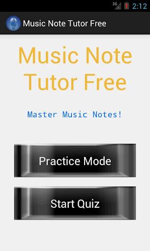 Music Note Tutor Free