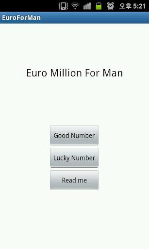 Euro Million For Man