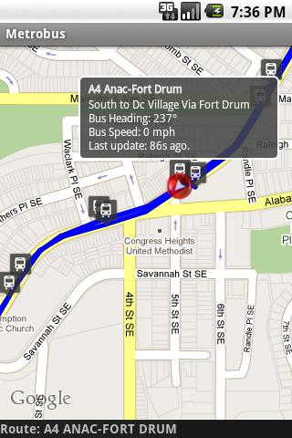 Chapel Hill Bus Locator - screenshot