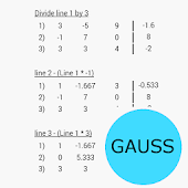 Gaussian elimination App