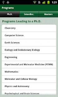 Dartmouth Graduate Studies- screenshot thumbnail