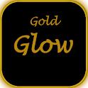Black and Neon Gold Glow icon