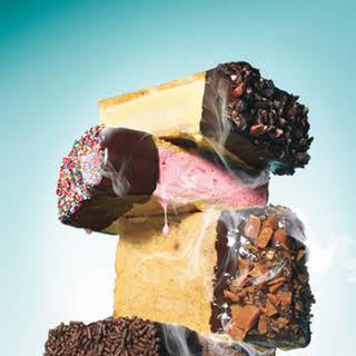Chocolate-Dipped Ice Cream Sandwiches.