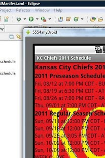 KC Chiefs 2011 Schedule - screenshot thumbnail