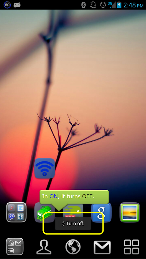 Bluetooth Tethering On Off - screenshot