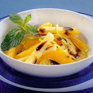 Pineapple And Orange With Bertolli Italian Glaze With Balsamic Vinegar Of Modena.