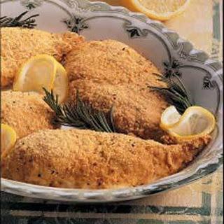 Baked Lemon Chicken (seasoned bread crumbs)