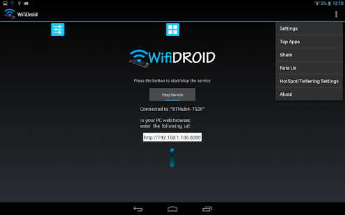 WifiDroid - Wifi File Transfer - screenshot thumbnail
