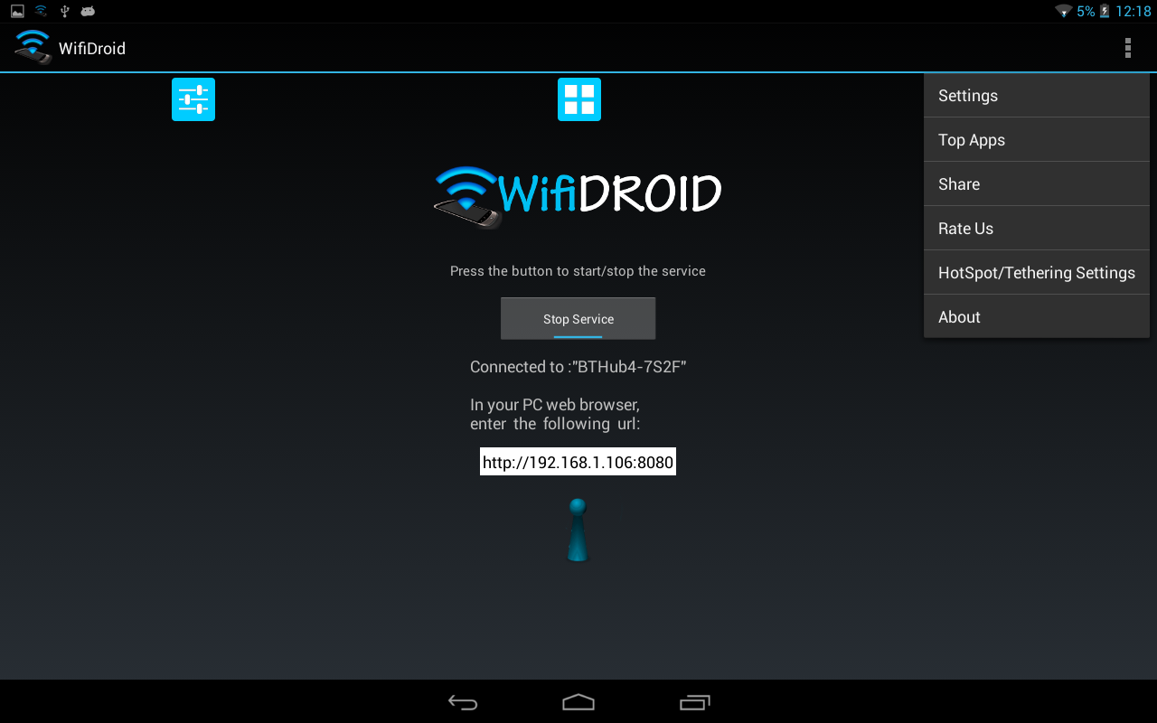 WifiDroid - Wifi File Transfer - screenshot