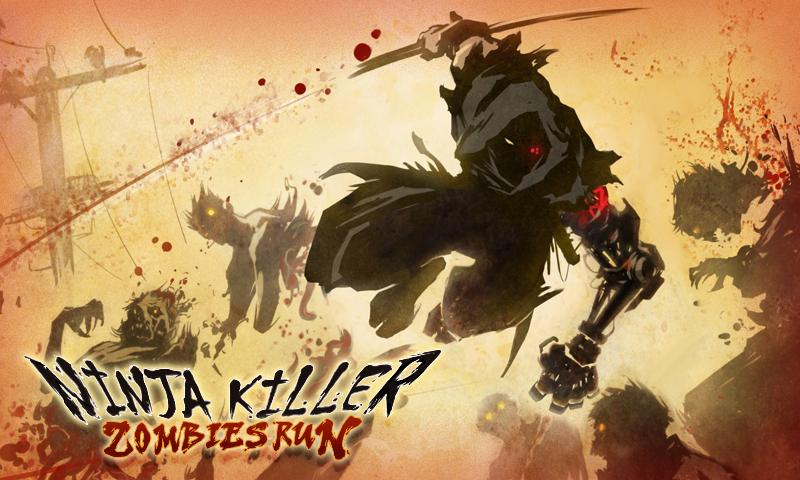 Ninja Killer: Zombies Run- screenshot