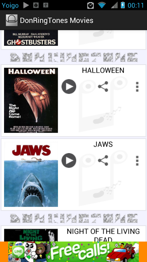 Don RingTones Horror Films - screenshot