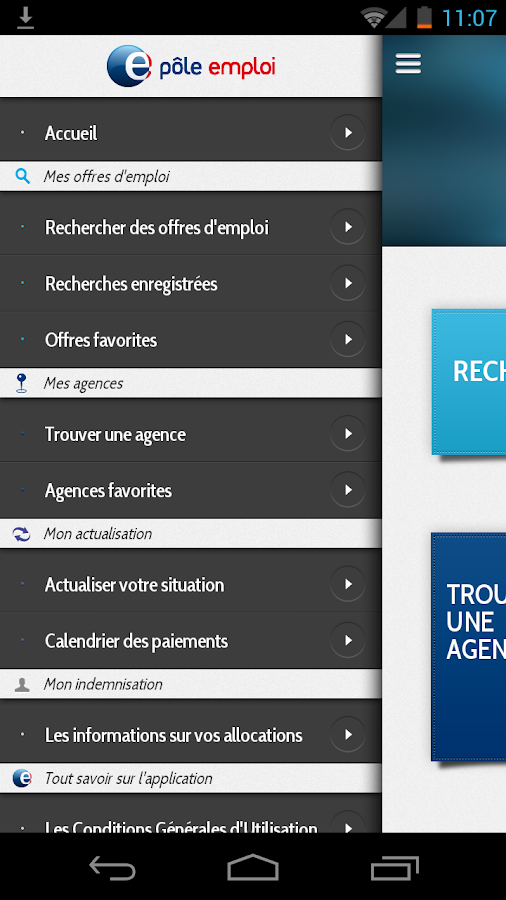 application mobile p u00f4le emploi  u2013 applications android sur