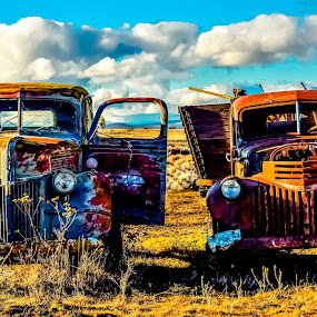 These Old Trucks by Earl Heister - Transportation Automobiles (  )
