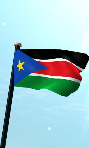 南スーダンフラグ3Dライブ壁紙