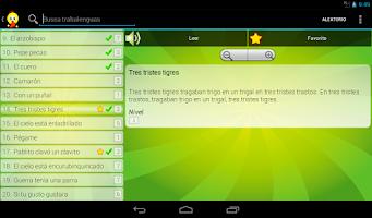 Screenshot of Trabalenguas