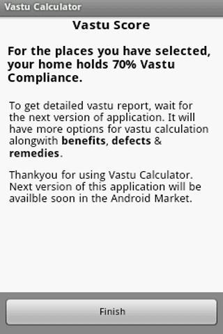 Vastu Calculator - screenshot