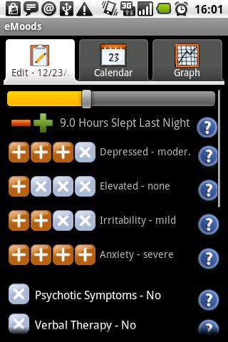 eMoods Bipolar Mood Tracker - screenshot
