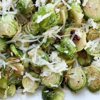 Crispy Brussels Sprouts with Asiago Cheese