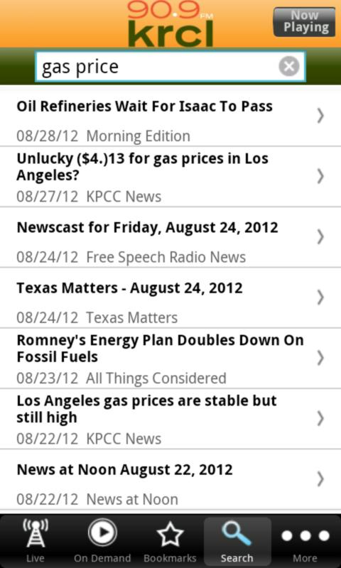 KRCL Public Radio App - screenshot