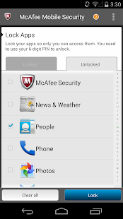 McAfee Antivirus & Security - screenshot thumbnail