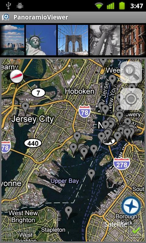 PanoramioViewer- screenshot