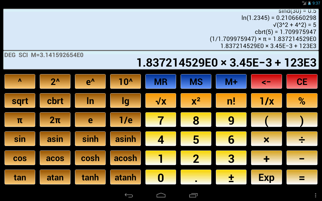 Scientific Calculator 3 - Android Apps on Google Play