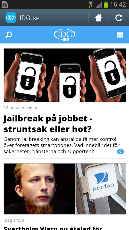 IDG.se- screenshot