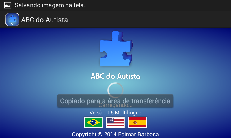 ABC do Autista: captura de tela