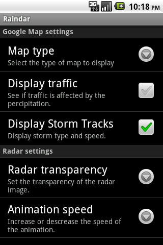 Raindar - screenshot