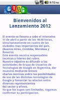 Screenshot of Launch GTUG Argentina 2012