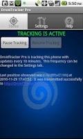 Screenshot of Droid Tracker Pro GPS Tracker