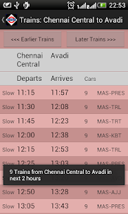 Chennai Local Train Timetable- screenshot thumbnail