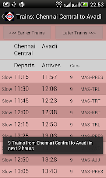 Chennai Local Train Timetable
