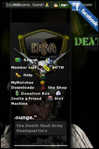 DEATHSKULLARMY.COM - screenshot