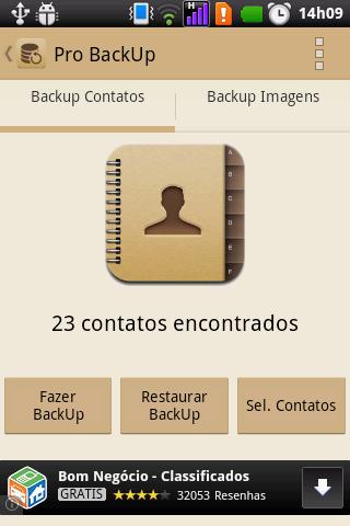 Pro Backup Contatos e Imagens