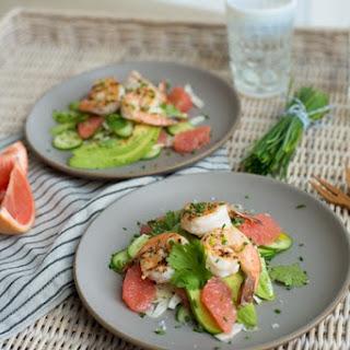 Grapefruit, Fennel & Grilled Shrimp Salad.