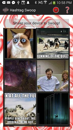 【免費娛樂App】Random Memes Hashtag Swoop-APP點子