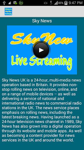 Sky News Live Streaming
